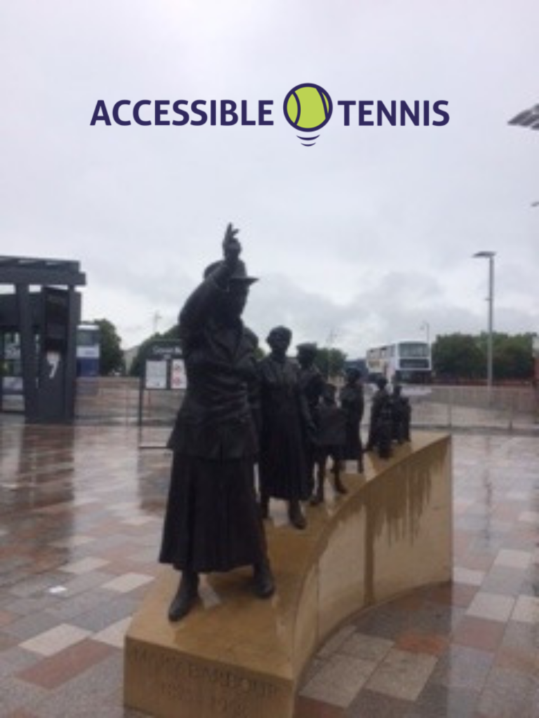 The Mary Barbour statue just outside Govan subway station